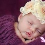 Surrogacy baby sleeping
